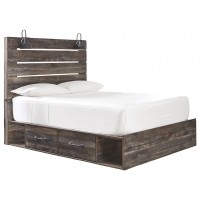 Drystan - Drystan Queen Panel Bed with 2-Storage
