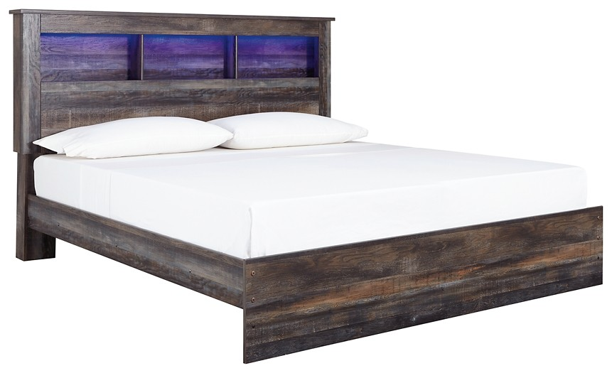 Drystan King Panel Bookcase Bed