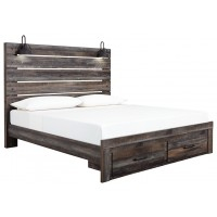 Drystan - King Panel Bed with Storage