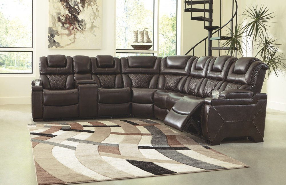 Warnerton - Warnerton 3-Piece Reclining Sectional with Power