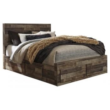 Derekson - Queen Panel Bed with 4 Storage Drawers