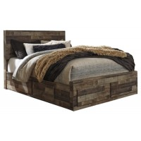 Derekson - Queen Panel Bed with 4 Storage Drawers
