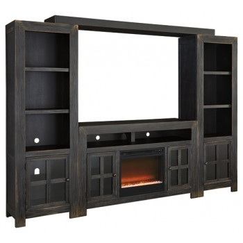 Gavelston - Entertainment System with Fireplace Insert