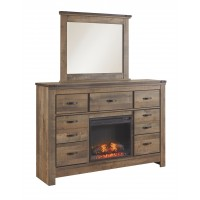 Trinell - Dresser with Fireplace