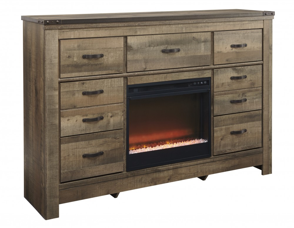 Trinell - Trinell Dresser with Fireplace