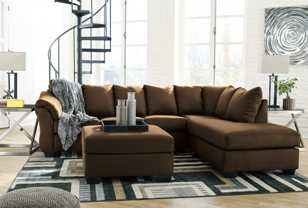 Darcy Darcy 2 Piece Sectional With Chaise And Sleeper