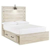 Cambeck - Full Panel Bed with 2 Storage Drawers