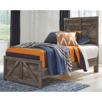 Wynnlow - Twin Crossbuck Panel Bed