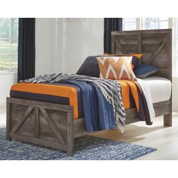Wynnlow - Twin Crossbuck Panel Bed