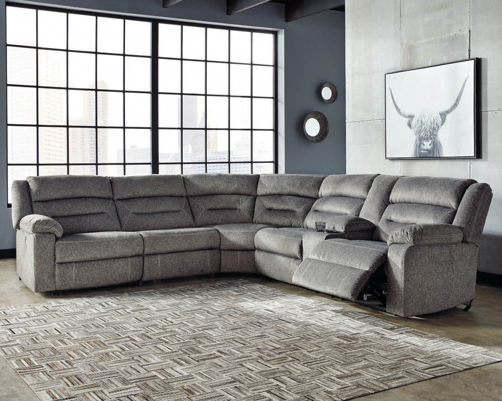 Malmaison - 4-Piece Power Reclining Sectional