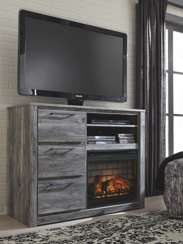 Baystorm - Media Chest with Electric Fireplace
