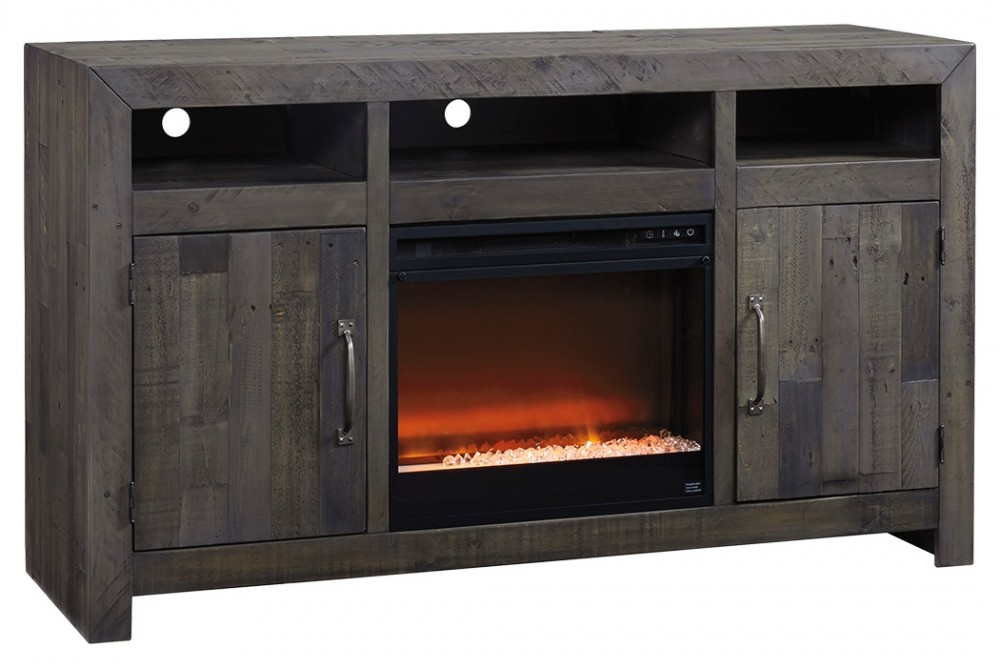 Mayflyn - Large TV  Stand with Fireplace