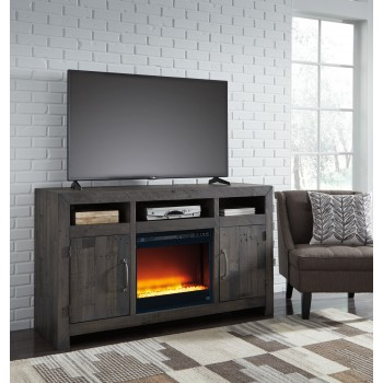 Mayflyn - Mayflyn Large TV  Stand with Fireplace
