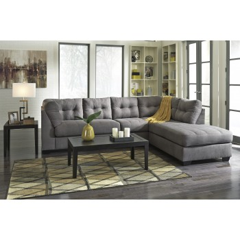 MAIER 2PC Charcoal Chaise Sectional