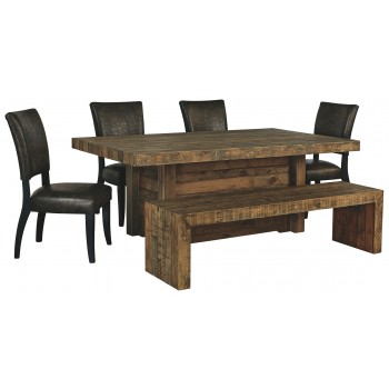 Sommerford - Dining Table and 4 Chairs and Bench