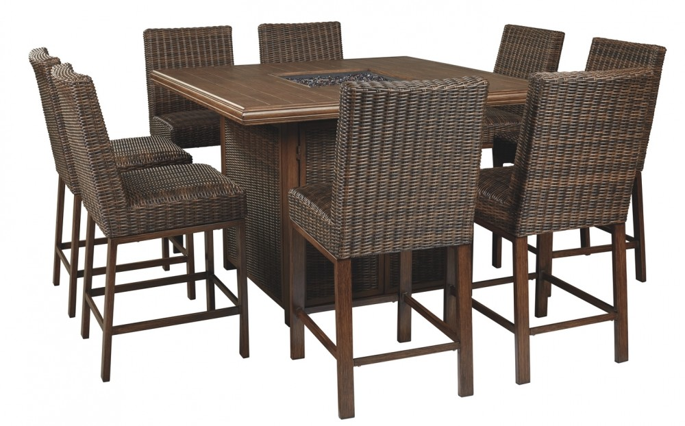 Paradise Trail - Outdoor Dining Table and 8 Chairs