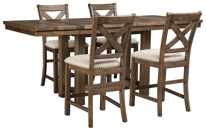 Moriville - Counter Height Dining Table and 4 Barstools