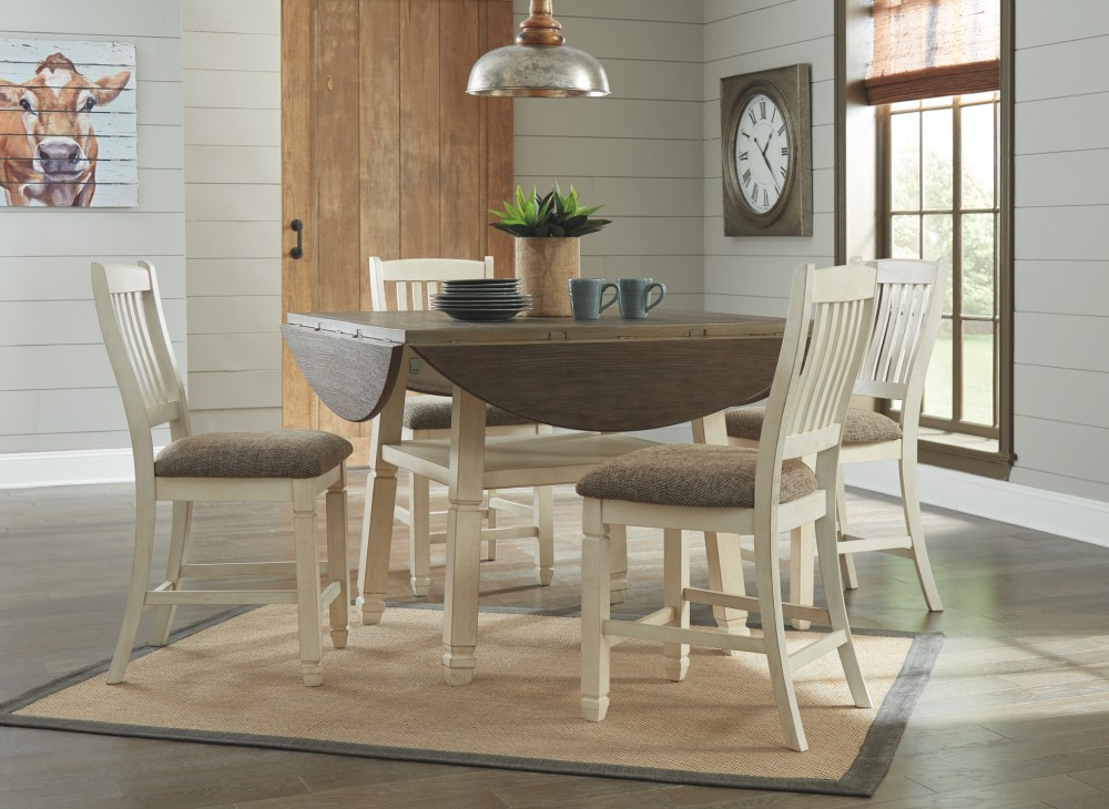 bolanburg  counter height dining table and 4 barstools