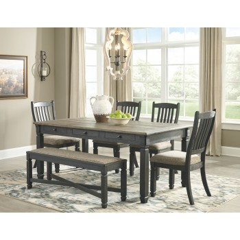 Tyler Creek - Dining Table and 4 Chairs and Bench