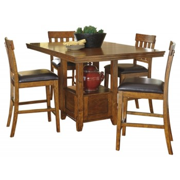 Ralene - Counter Height Dining Table and 4 Barstools