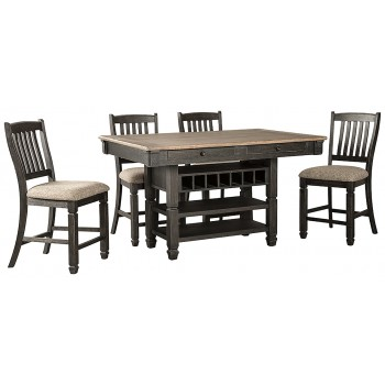 Tyler Creek - Counter Height Dining Table and 4 Barstools
