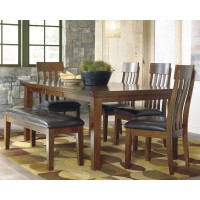 Ralene - Dining Table and 4 Chairs and Bench