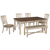 Bolanburg - Dining Table and 4 Chairs and Bench