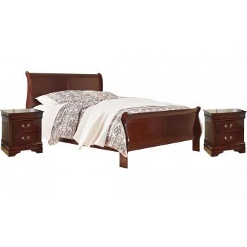 Alisdair - King Sleigh Bed with 2 Nightstands