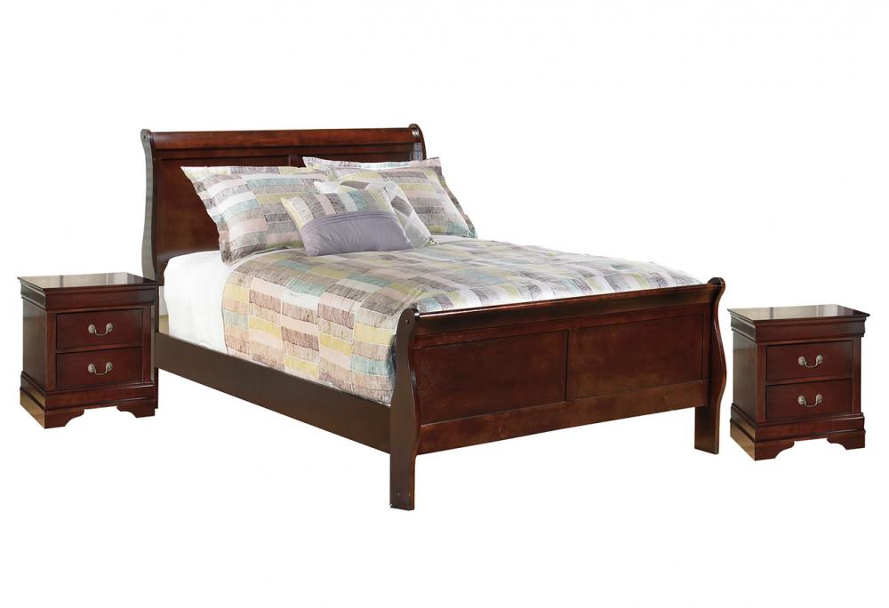 Alisdair - Full Sleigh Bed with 2 Nightstands