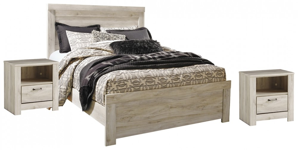 Bellaby - Queen Panel Bed with 2 Nightstands
