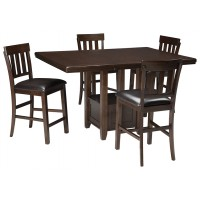 Haddigan - Counter Height Dining Table and 4 Barstools