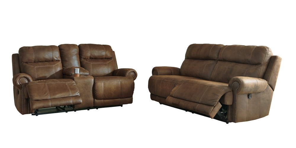 Austere Reclining Sofa and Loveseat