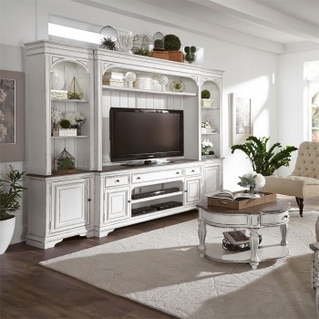 Magnolia Manor Entertainment Center with Piers