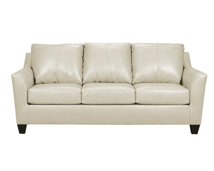 Soft Touch Cream Top Grain Leather Sofa