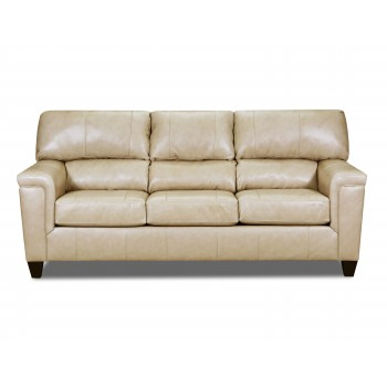 Soft Touch Putty Top Grain Leather Sofa