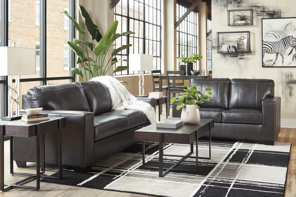 Pleasant Morelos Gray Leather Match Sofa Loveseat 34503 Living Andrewgaddart Wooden Chair Designs For Living Room Andrewgaddartcom