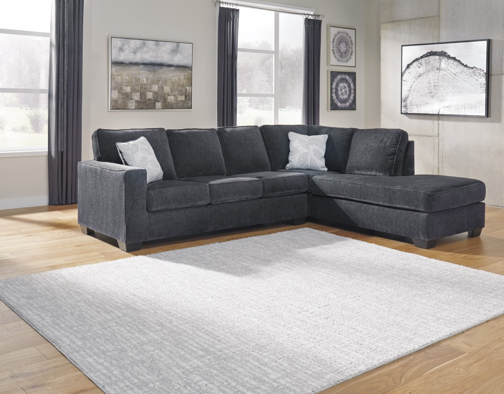Altari Slate 2pc Chaise Sectional