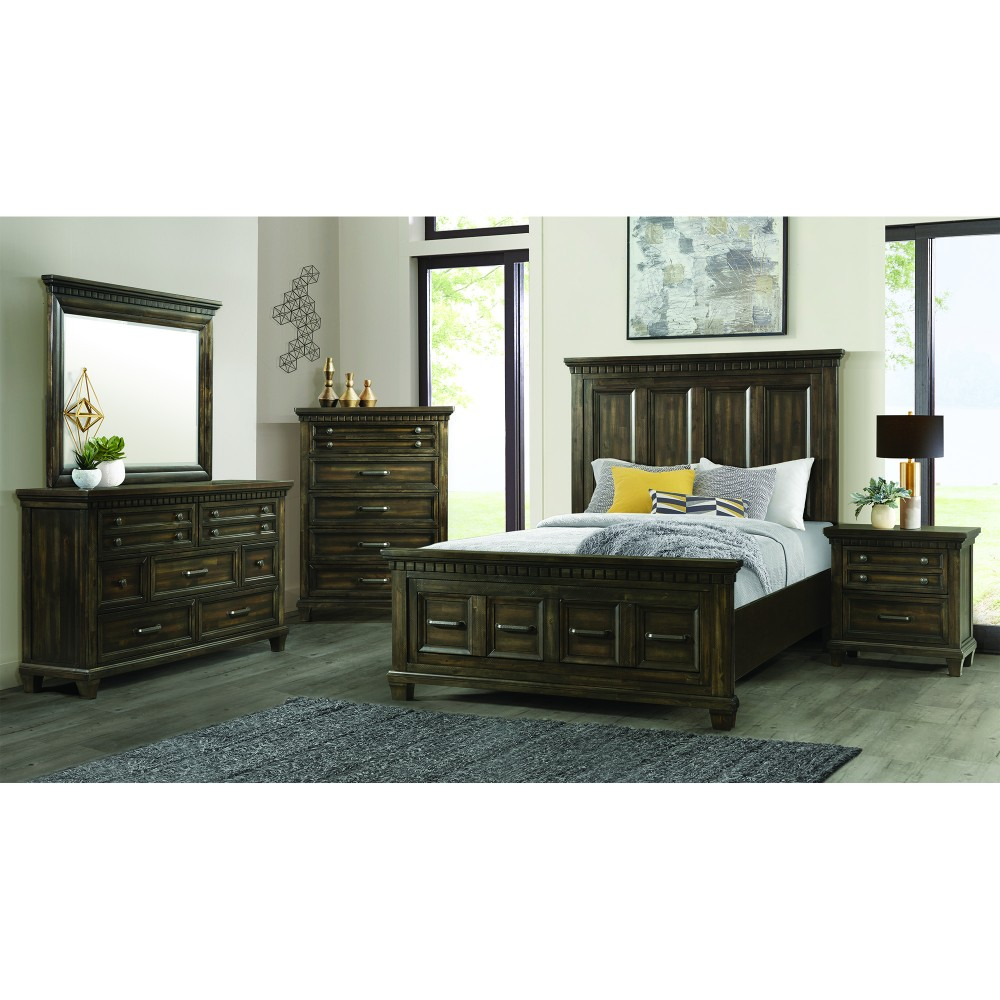 Ordinaire Mccabe 4pc Bedroom Dresser, Mirror, Queen Bed And 1 Night Stand