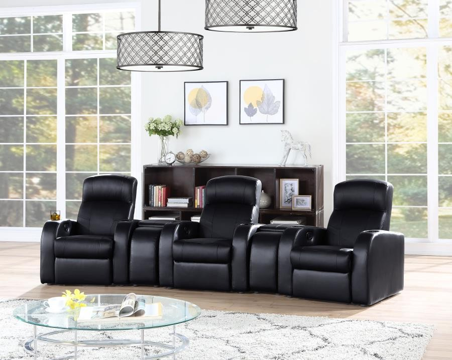 CYRUS HOME THEATER COLLECTION - 5 Pc 3-Seater Home Theater