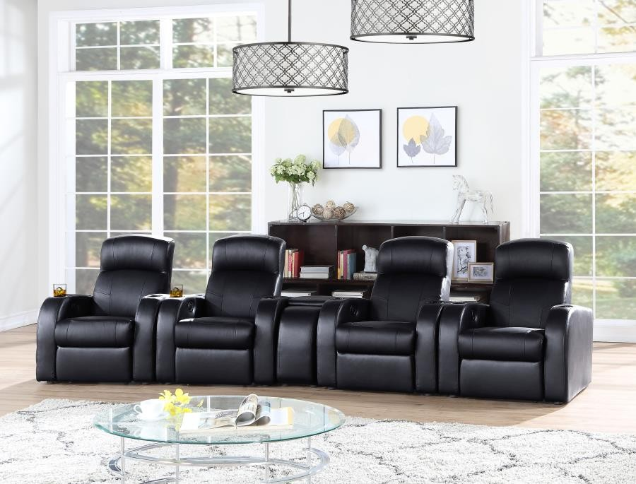 CYRUS HOME THEATER COLLECTION - 5 Pc 4-Seater Home Theater