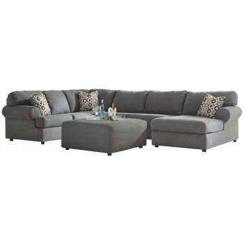 Stupendous Jayceon 4 Piece Sectional W Ottoman Pabps2019 Chair Design Images Pabps2019Com