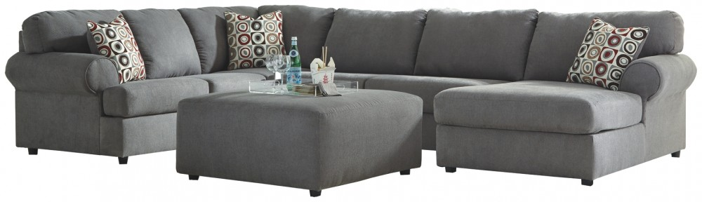 Surprising Jayceon 4 Piece Sectional W Ottoman Pabps2019 Chair Design Images Pabps2019Com