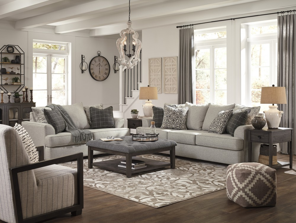 2pcs Ashley 79604 Velletri Sofa and Loveseat