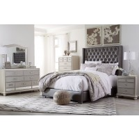 Ashley Coralayne Gray Textured Upholstered Panel Bedroom Set