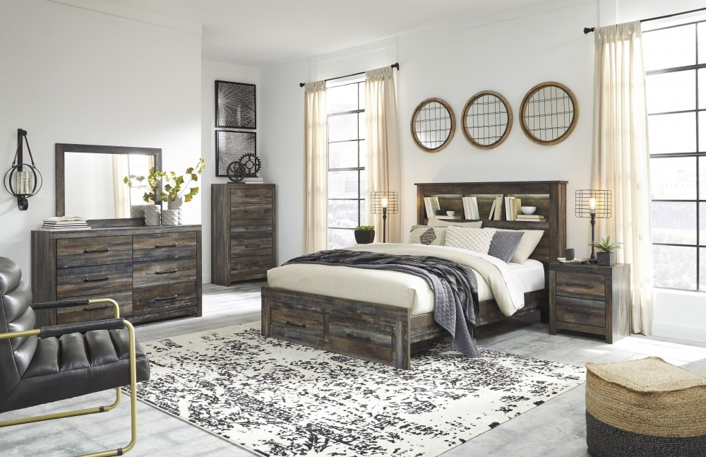 Ashley Drystan Multi Bookcase Storage Bedroom Set