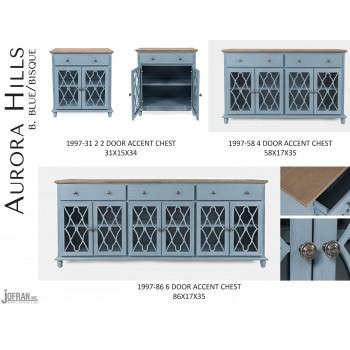 Aurora Hills 6 Door Accent Chest