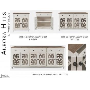 Aurora Hills 4 Door Accent Chest