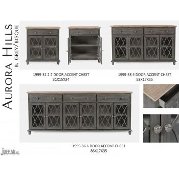 Aurora Hills 6 Door Accent Chest-b. Grey/bisque