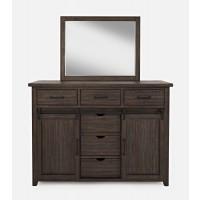 Madison County 3pc King Barn Door Bedroom: Bed, Dresser, Mirror