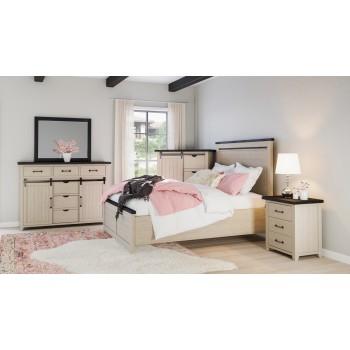 Madison County 3pc Queen Panel Bedroom: Bed, Dresser, Mirror